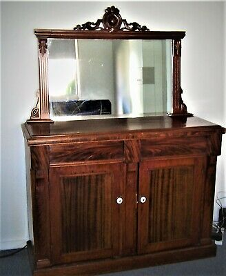 AU130 • Buy Antique Sideboard With Mirror