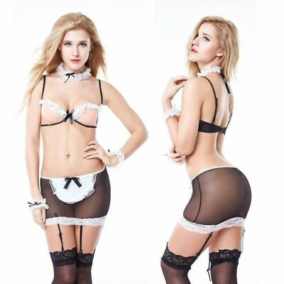 £4.99 • Buy Sexy Lingerie Women's Costume SM Cosplay Uniform French Maid Outfit Fancy Dress
