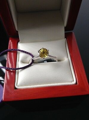*** SALE *** 'ILIANA.' Superb 1ct AAA Yellow Sapphire Solitaire18k White Gold  • 399£