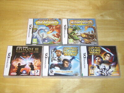 Nintendo DS - Combat Of Giants Dragons - Insects & 3 Star Wars Games Bundle • 20£