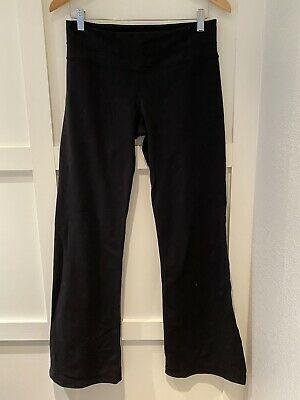 $ CDN34.67 • Buy Lululemon Black Leggings Yoga Pants Flare Wide Leg Size 8