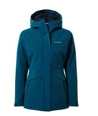 Craghoppers Womens Caldbeck Waterproof Breathable Stretch Hooded Jacket Coat 14 • 79.99£