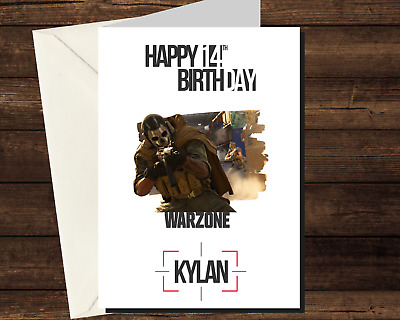 £3.25 • Buy Personalised WARZONE Call Of Duty Birthday Card - Game Gamer PS4 Xbox PC Mobile