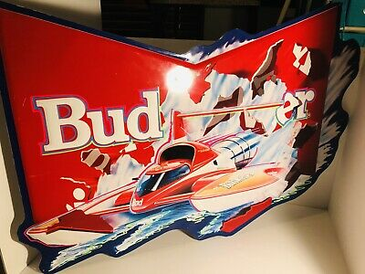 $ CDN152.60 • Buy Miss Budweiser Hydroplane Metal Sign 1992 - Very Rare.  042-223