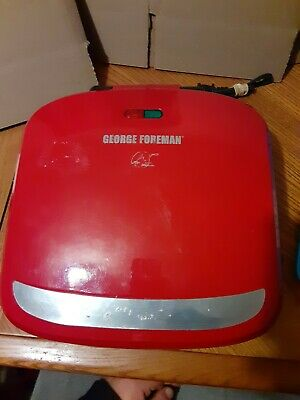 George Foreman Grill Red GRP360R 4 Servings Removeable Plate Grill Panini Press • 15.21£