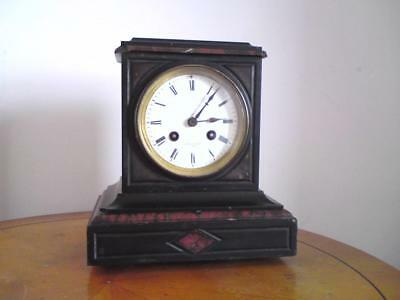DENT 61 Strand London With Honoré Pons Movement Slate / Marble Mantel Clock • 250£