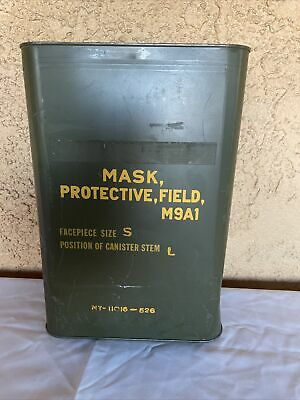 $80 • Buy New In Sealed Can: M9A1 U.S. SIZE S Military Protective Field Gas Mask