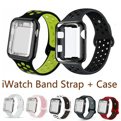 $ CDN6.03 • Buy For Apple Watch Series 3 4 5 6 SE Band Case Loop Strap Sports Screen Protector