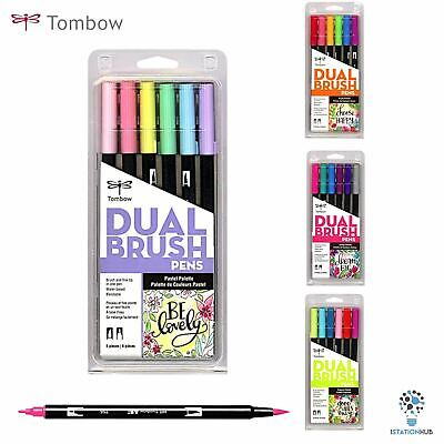 Tombow ABT Dual Brush Pen | Pack Of 6 Pens | Arts Craft Stationery Set • 20.90£