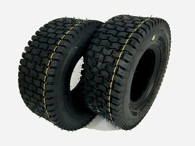 £39.90 • Buy 13x5.00-6 TURF TYRES X2 Ride On Lawn Mower Garden Tractor 13x500-6 Tyre TUBELESS