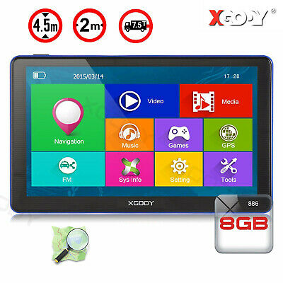 AU69.69 • Buy XGODY 7  GPS Sat Nav Car Truck LGV HGV 8GB 256MB Navigation Free Maps Speedcam