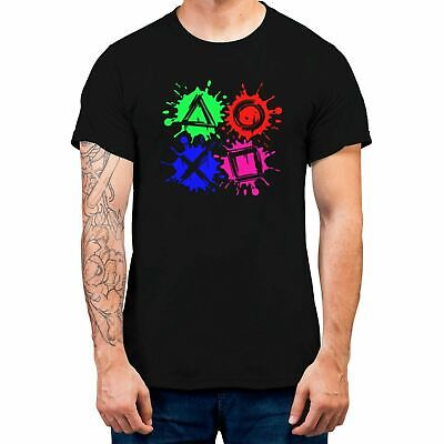Gaming Gamer Playstation Buttons Men T-shirt Playstation Gamers Tee 100% Cotton • 11.99£