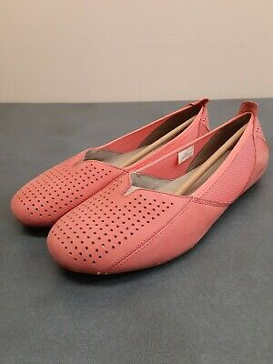 $28 • Buy Patagonia Maha Ballet Perf Flat Slip-On Leather Breathe Shoe Coral / Size 9