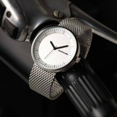 Lambretta Franco Silver Stainless Steel Unisex Watch With Mesh Strap 2160STE • 42.92£