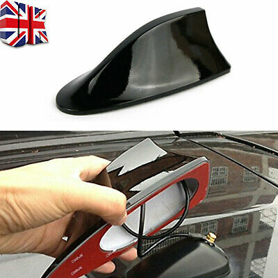 Black Universal Car Shark Fin Roof Antenna Radio FM/AM Signal Aerials For BMW • 6.89£