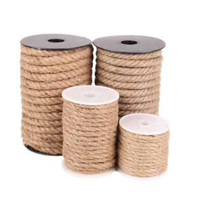 10m Jute Rope Twine Rope Natural Hemp Cord String Decor Craf For Scrapbooking • 4.09£
