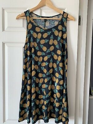 Ladies Forever 21 Dress Size M Pineapple Print • 1.99£
