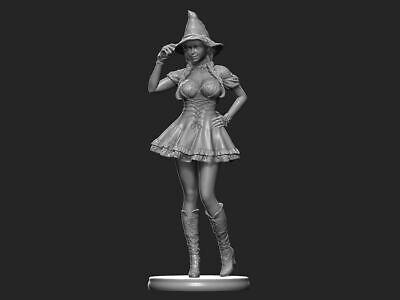SEXY WITCH PIN UP GIRL || Custom Resin Model Kit Pin Up Figure/Statue 1/10 200mm • 49.99£