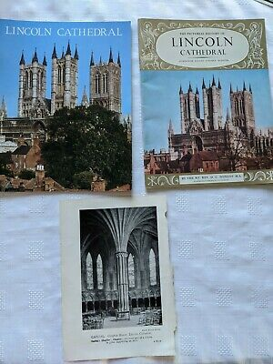 Lincoln Cathedral Guide Books X 2 - 1968  & 1973 Pitkin Books + Vintage Plate • 5£