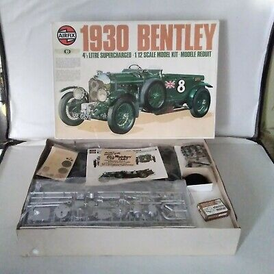 £245 • Buy RARE Airfix 1930 Bentley Supercharged 4.5 Litre 1/12 Scale Model Kit With MOTOR