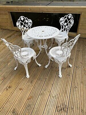 Cast Iron Effect Aluminium Garden Furniture  Table And 4 Chairs • 350£