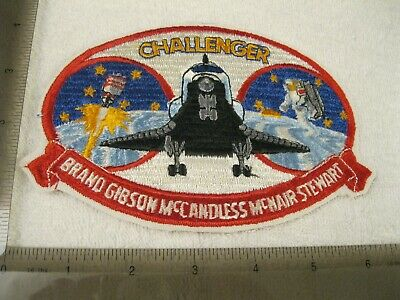 Large Space Shuttle Challenger Rare 80s Vintage Nasa Patch Sew Or Iron On Bv • 4.95£