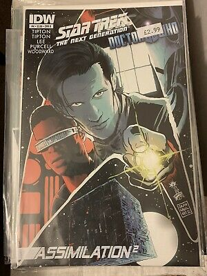 Star Trek The Next Generation Doctor Who Assimilation Squared #4B IDW • 12£
