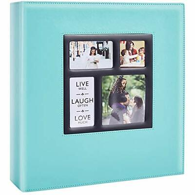 1000 Pocket Photo Album 6x4 Photos Extra Large Size Leather Cover Slip (Teal) • 38.99£
