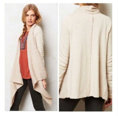 $ CDN30.50 • Buy Anthropologie Saturday Sunday Light Tan Knit Cardigan Sweater - Size Large