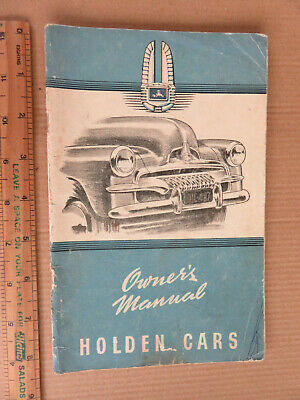 AU30 • Buy Original Vintage  Holden  Fj Car Ute Owners Manual Australia