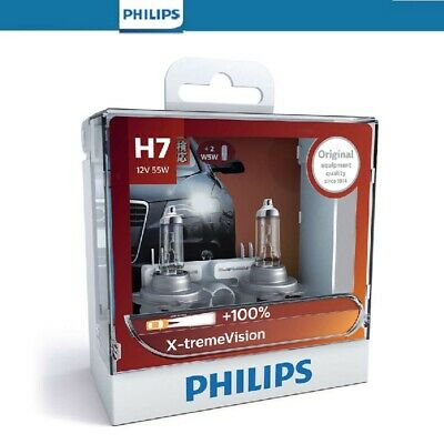 AU46 • Buy Philips H7 X-tremeVision Headlight Globes 12V 55w + 2 X T10 Parkers Bulb Pack