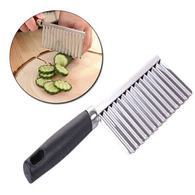 £2.75 • Buy 1x Slicing Potato Chip Fruits Crinkle Cutter Tool Stainless Steel Cutter Kitchen