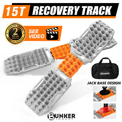AU179.95 • Buy BUNKER INDUST Pair Recovery Tracks Sand Track 15T 4WD Car Accessories  Grey 4x4