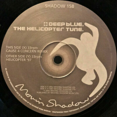 Deep Blue – The Helicopter Tune | Moving Shadow -  BIG JUNGLE REMIX 12  Vinyl • 49.99£