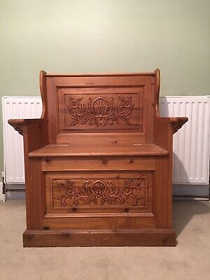 Hall Chair With Storage. One Seat. Hand Carved By KEENPINE. • 49.99£