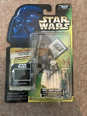 $ CDN53.13 • Buy Star Wars Power Of The Force Freeze Frame Ewoks Wicket And Logray 1997 Kenner