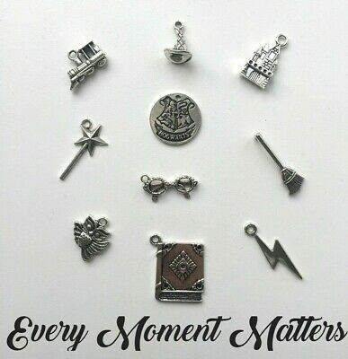 £2.99 • Buy 10 X Tibetan Silver HARRY POTTER THEMED Mixed Pack Of Charms