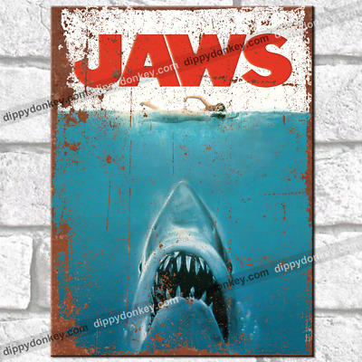 £3.95 • Buy JAWS Movie Metal Signs Vintage Retro Wall Plaques Garage Shed TV Film Tin Sign