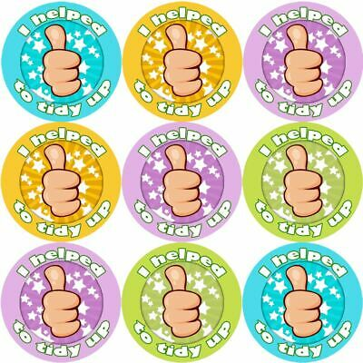 144 I Helped To Tidy Up 30mm Children's Reward Stickers For Teachers And Parents • 2.69£