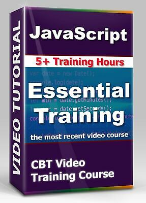 £3.61 • Buy JavaScript Essential Training - CBT Video Training Course - 5+ Hours + Exercises