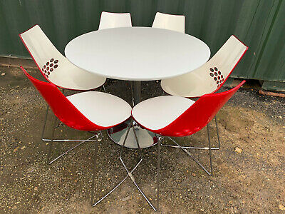 £240 • Buy Six Calligaris Jam Chairs And Table, Italian, Retro Style