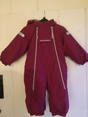 £15 • Buy Didriksons Baby Toddler Size 60cm Snowsuit Ski Suit Coverall, Fleece Lined