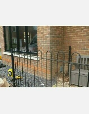 Metal Railing Garden Wrought Iron Fence And Posts • 85£