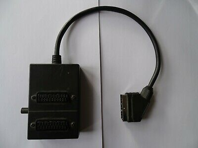 2 Way SCART Switch Splitter Box Adaptor With 40cm Cable • 5.49£
