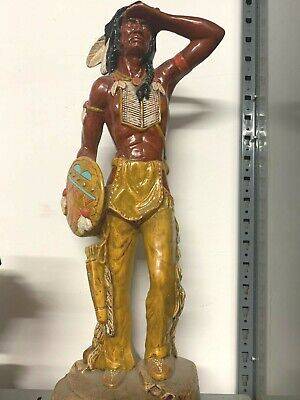 Native American Indian With Shield Figurine Statue X-Large 2ft New • 54.99£