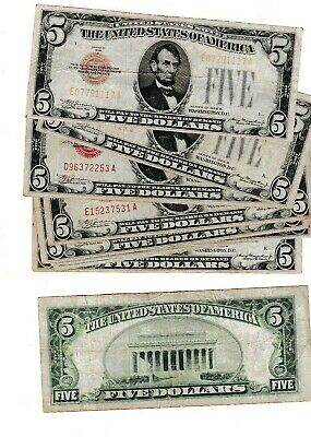 $ CDN29.35 • Buy 1928 B $5united States Note With Red Seal, 1st Year Note Sold As Each