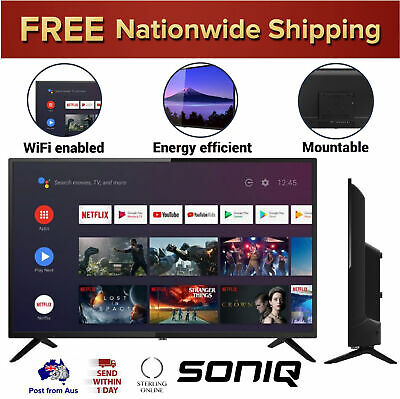 AU289.85 • Buy SONIQ Smart TV 32 Inch Android Television WiFi Netflix Streaming Google Assist