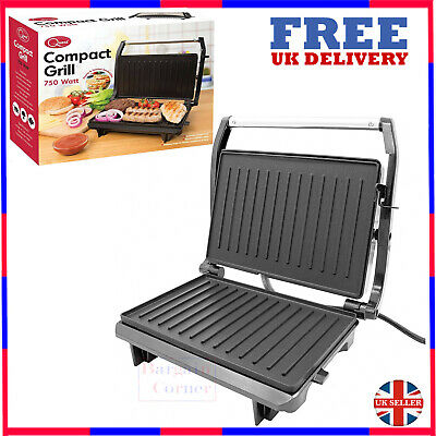 Quest 2 Slice Stainless Steel Compact Panini Press & Grill 34340 • 25.95£