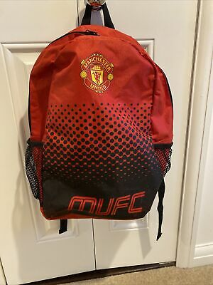 OFFICIAL MANCHESTER UNITED FC FADE BACKPACK Used PE Swimming Bag Kids School Bag • 4.99£