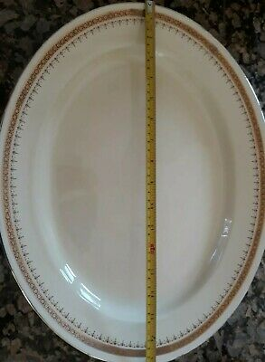 Large Meat Vegetable Platter Plate Crown Devon Mayfair China Art Deco Collection • 25£